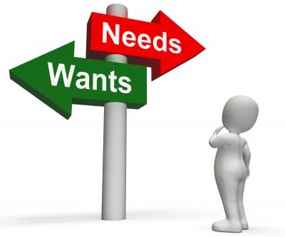 Placas-indicativas-necessidades-desejos-e-pessoa-em-duvida-sobre-qual-delas-seguir