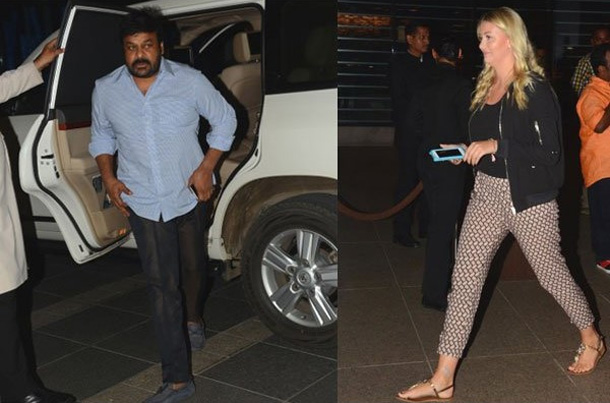 Pawan kalyan wife at Megastar Chiranjeevi birthday Party