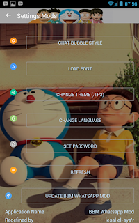 Download BBM MOD Doraemon Versi Terbaru v3.0.1.25 APK