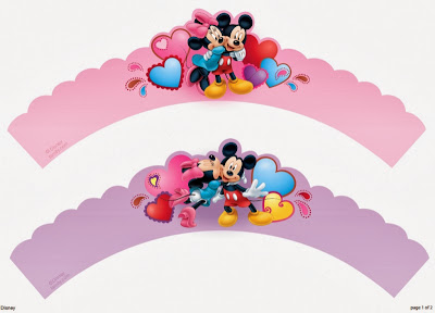 Mickey and Friends Free Printable Cupcake Wrappers and Toppers.