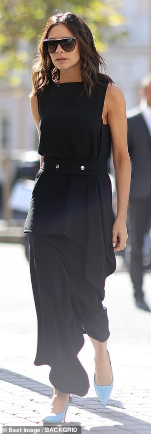 Victoria Beckham effortlessly chic as she leaves office during PFW