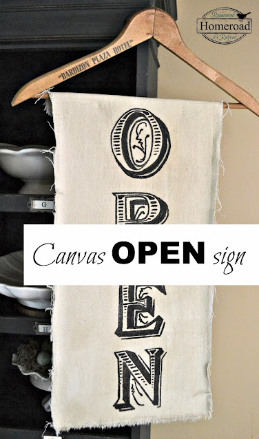 open sign on canvas with pin words on photo