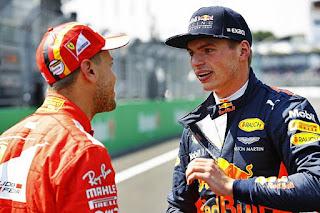 Verstappen and Vettel