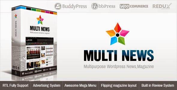 Multinews v2.0 Multi-purpose WordPress News, Magazine Theme