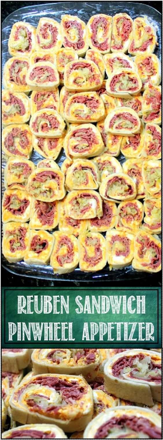 Reuben Sandwich Pinwheels #LOWCARB #APPETIZER