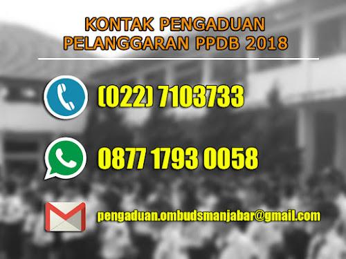 Kontak pengaduan pelanggaran PPDB Kota Bandung 2018