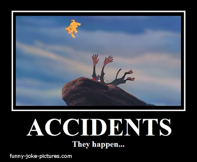 Funny Lion King Accident Cartoon Joke Image