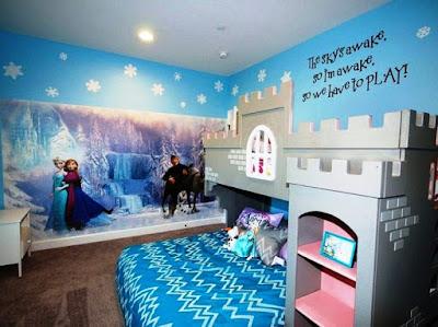 dekorasi kamar tidur frozen terbaru