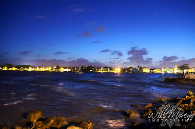 The Beauty of Belize City Shoreline at Night