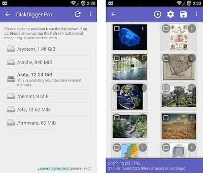 Perbaiki Kartu MicroSD dengan DiskDigger Android
