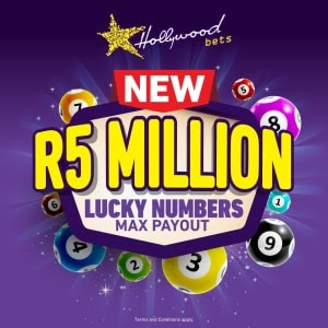 R5 Million - Lucky Numbers Max Payout at Hollywoodbets