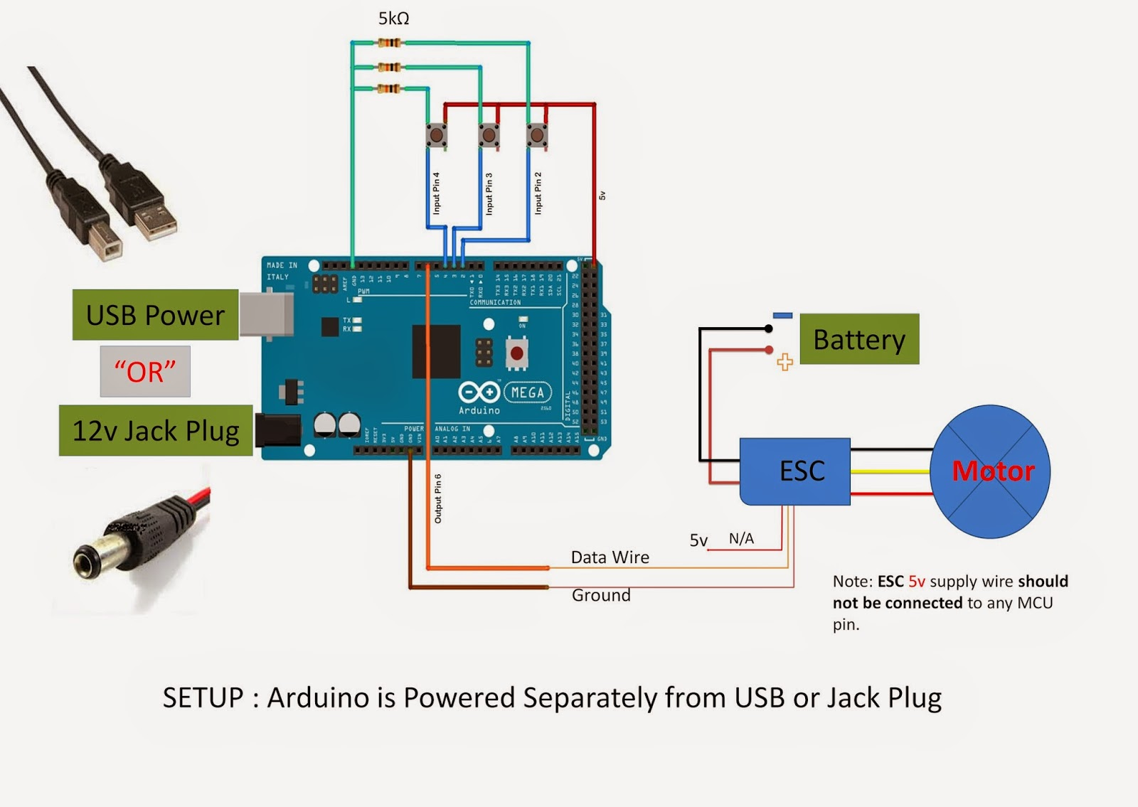 Diy Arduino Brushless Dc Motor Controller Control Schematic Diagram Ku63 Bldc Using Sketch Mega 2560 D I Y With Esc And