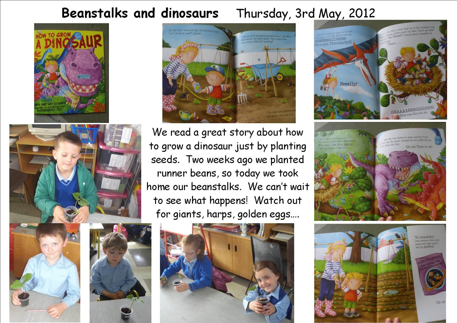 Literacy Site Beanstalks And Dinosaurs