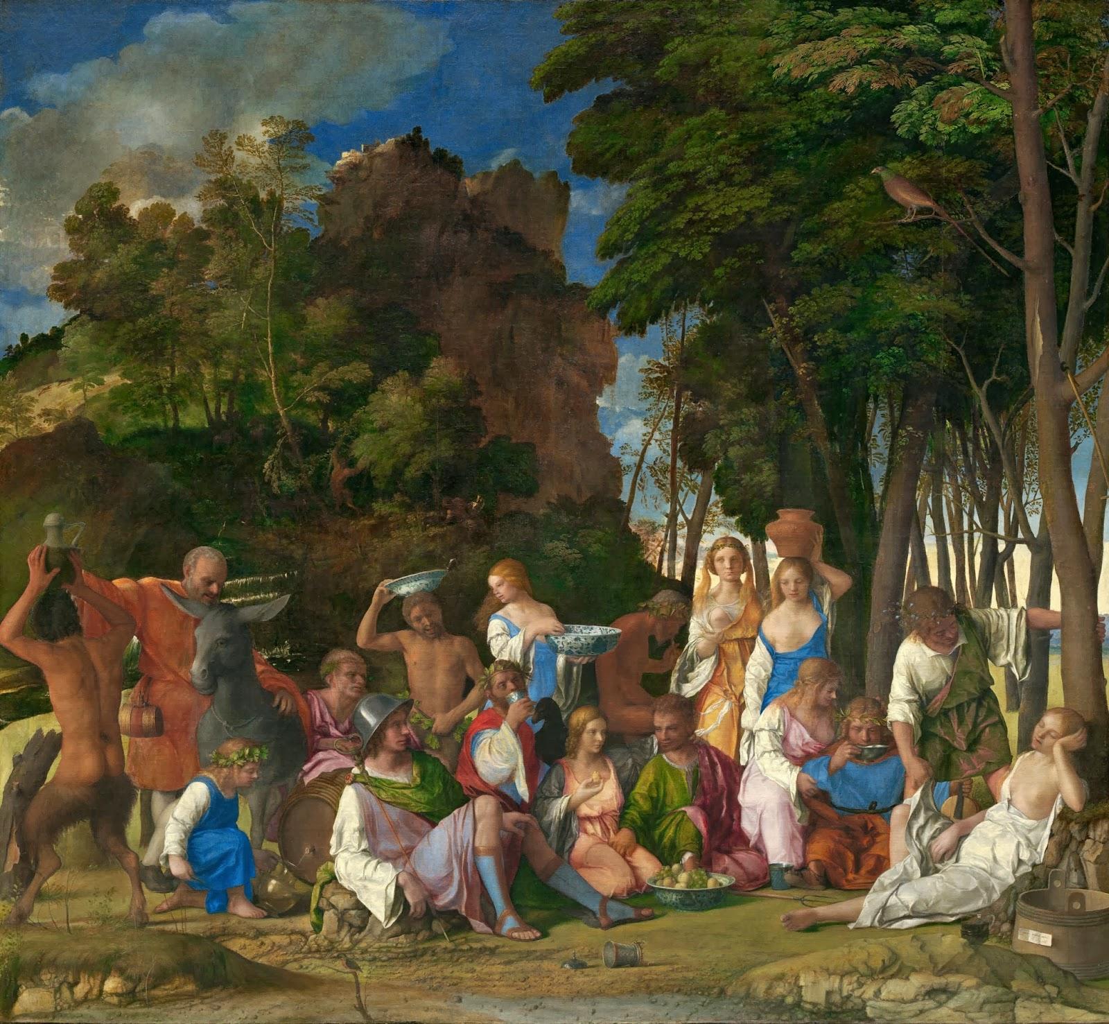 Bellini y Tiziano, Festín de los dioses (1514)