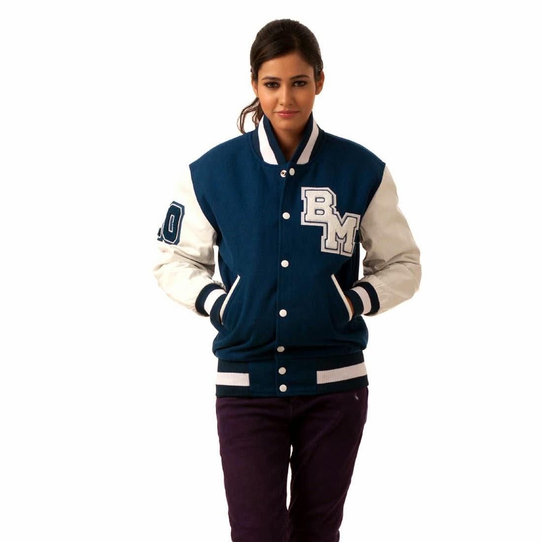 Varsity letterman jackets for women
