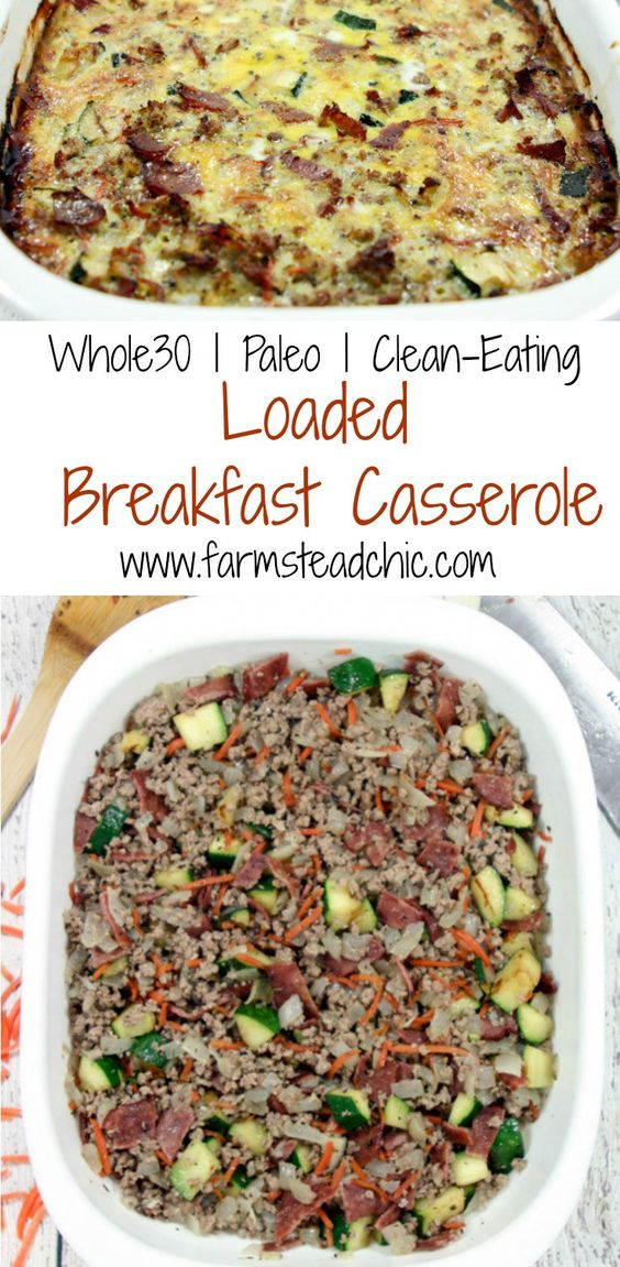 PALEO AND WHOLE30 BREAKFAST CASSEROLE