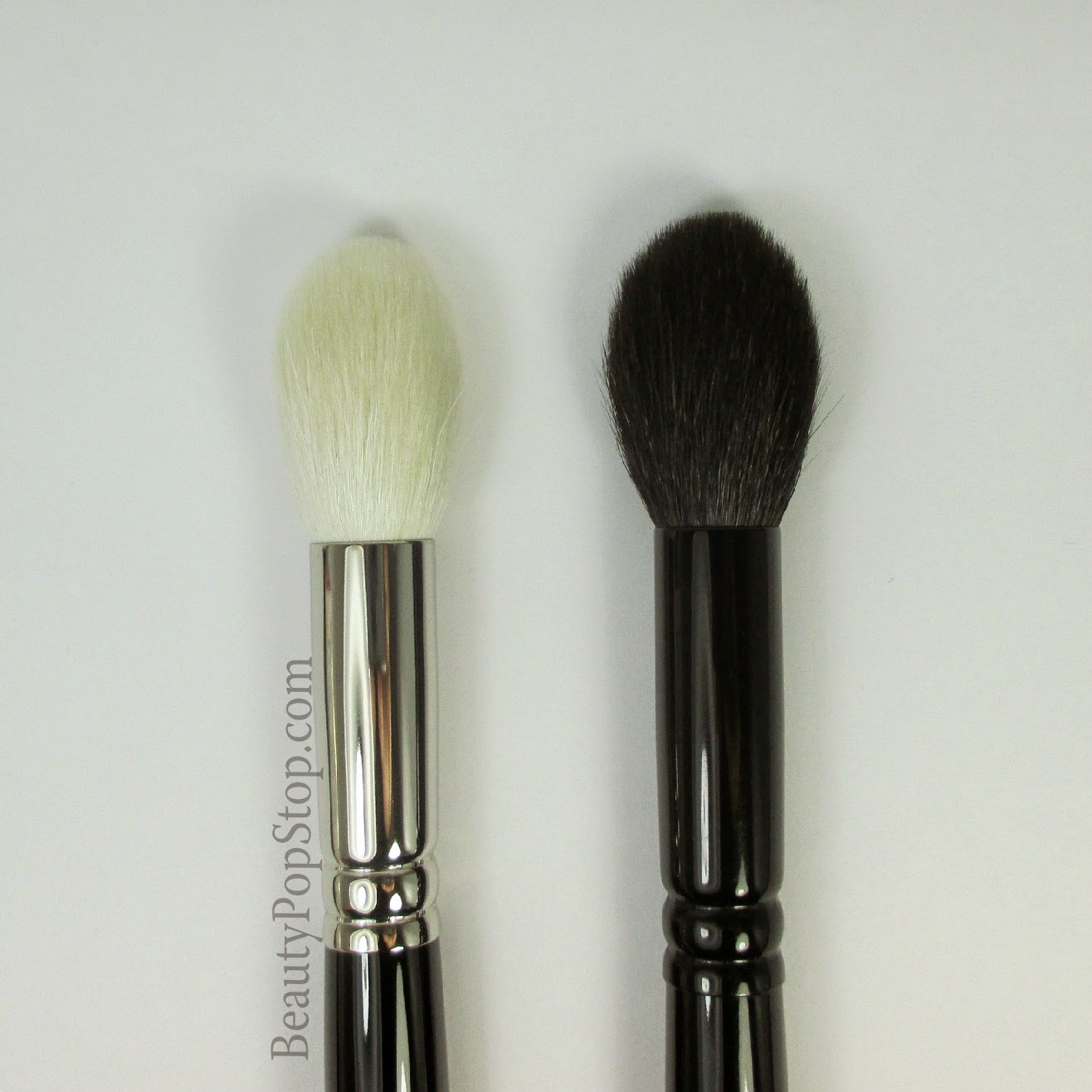 hakuhodo J5521 versus Wayne Goss 02 japanese makeup brush comparison