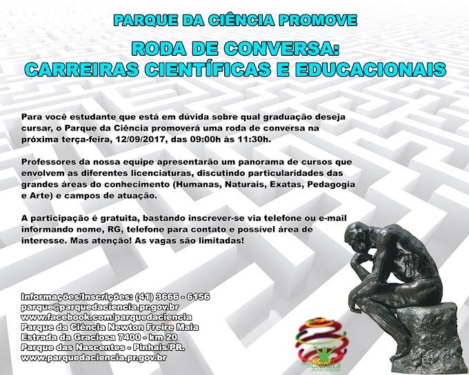 Parque da Ciência promove Roda de Conversa: Carreiras científicas e educacionais!