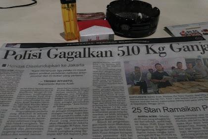 Hana Jadeh Kaya Awak Aceh, 510 Kg Ganja Hana Lewat Kalinyoe
