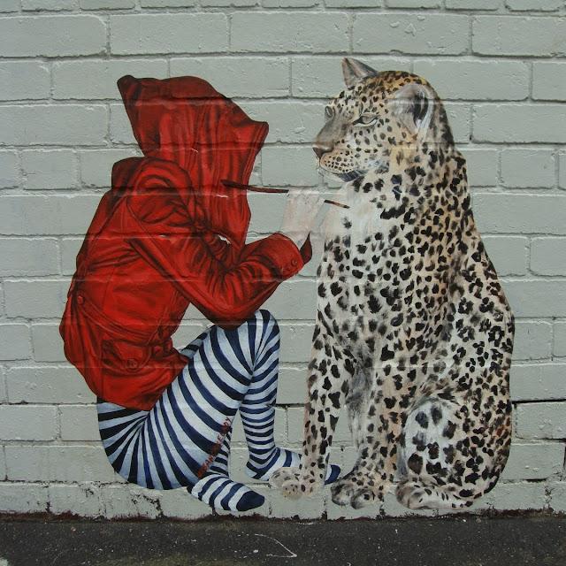Zebra & Leopard - Street art Melbourne