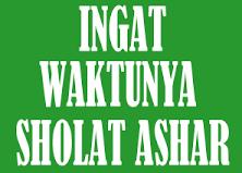 Bacaan Doa Niat Sholat Ashar