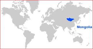 Gambar Peta letak Mongolia