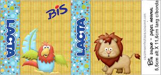 Etiquetas de la Jungla Bebés  para imprimir gratis.