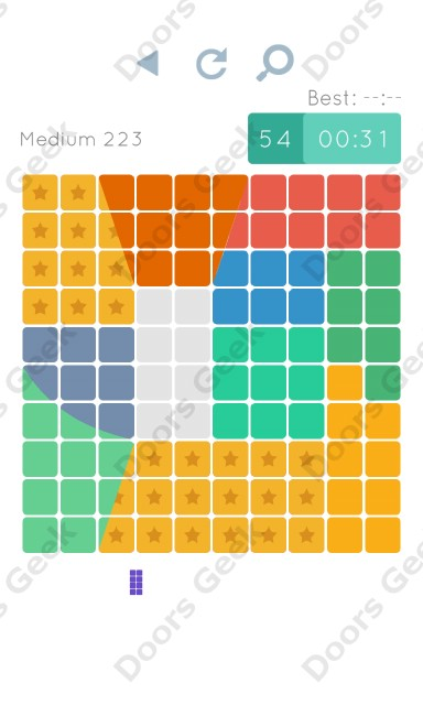Cheats, Walkthrough for Blocks and Shapes Medium Level 223