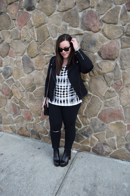 Sequins and Skulls: Black & White Sequins