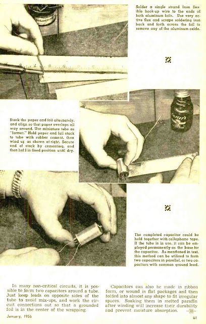 Roll Your Own Capacitors -1956