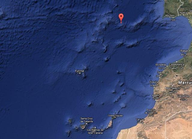 Terremoto 5 grados Atlántico, Azores