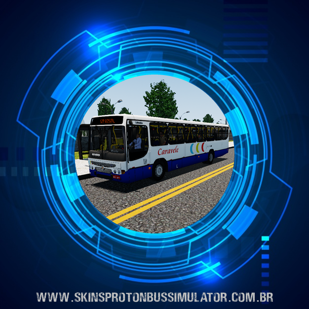 Skin Proton Bus Simulator - Viale MB OF-1721 Caravele