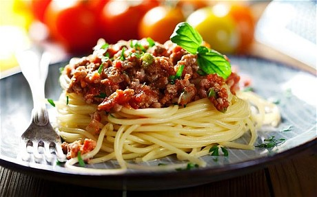 Pasta with minced beef