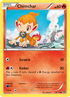 Chimchar Steam Siege Pokemon Card