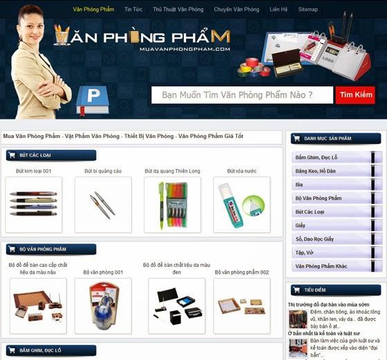 thiết kế website văn phòng phẩm đẹp