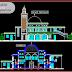 مخطط مشروع مسجد بتصميم جميل طابقين اوتوكاد dwg