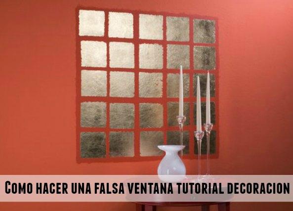 Ventanas falsas para decorar cualquier pared interior