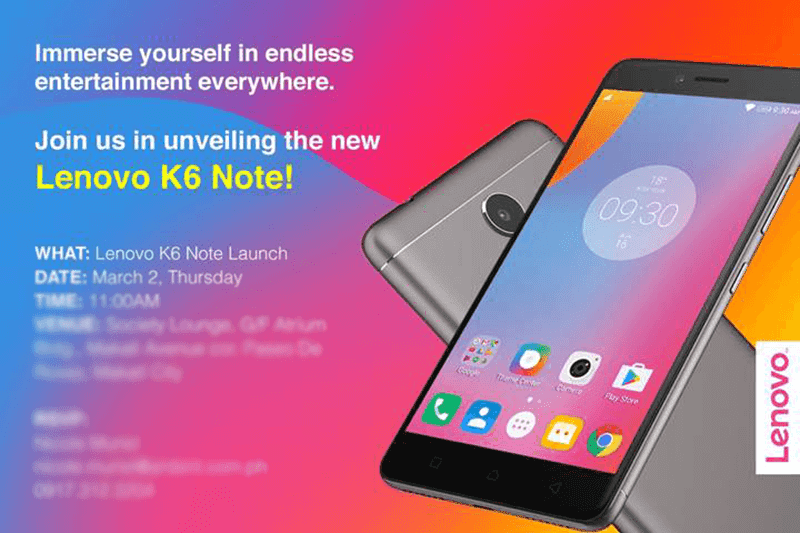 Lenovo K6 Note Philippine launch!