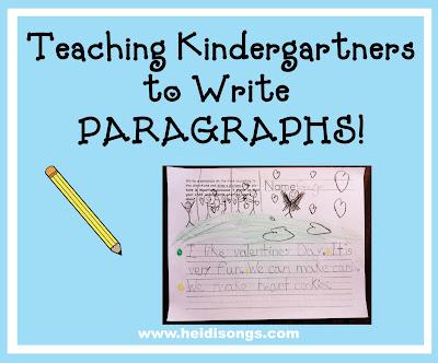 Teaching Kindergartners to Write PARAGRAPHS! \u2013 Heidi Songs