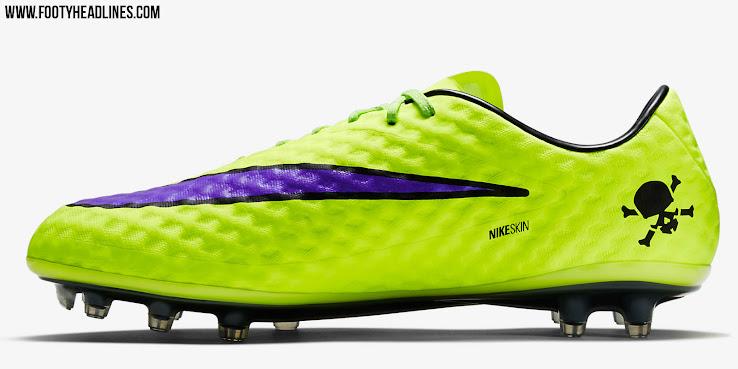 separation shoes 1baca 5f81c Der neue gelbe Nike Hypervenom Intense Heat Pack Schuh ist hauptsächlich  gelb mit einem lilanen Swoosh, der einen einzigartigen glänzenden Effekt  aufweist.
