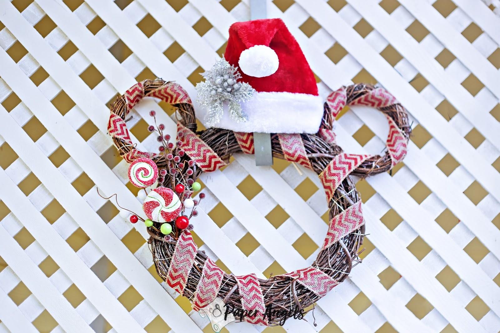 Easy DIY Mickey Mouse Christmas Wreath