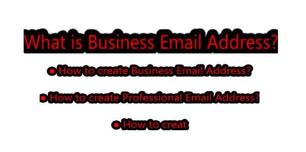 How to create business email address free of cost