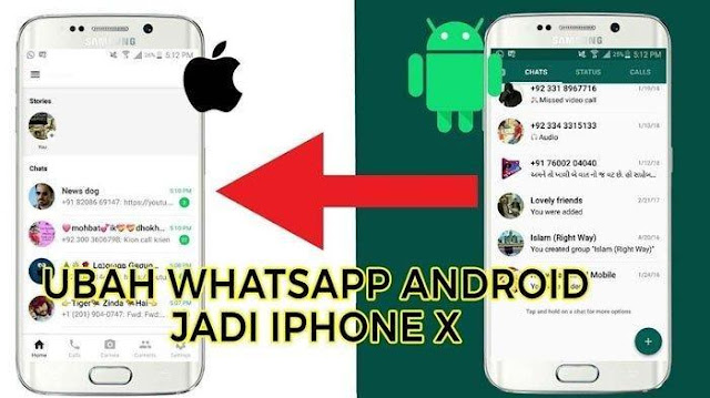 Download Tema Whatsapp iPhone X Terbaru