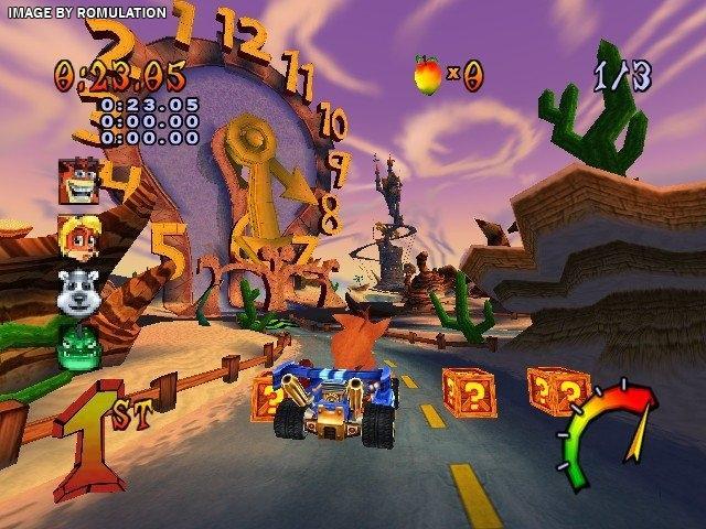 Crash Tag Team Racing PS2 GAME ISO Screenshot 2