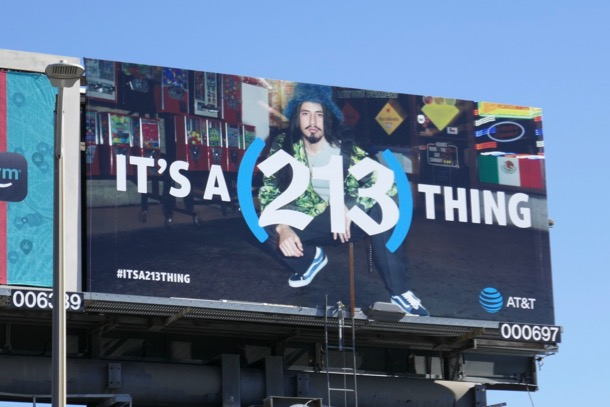 Its a 213 thing ATT billboard