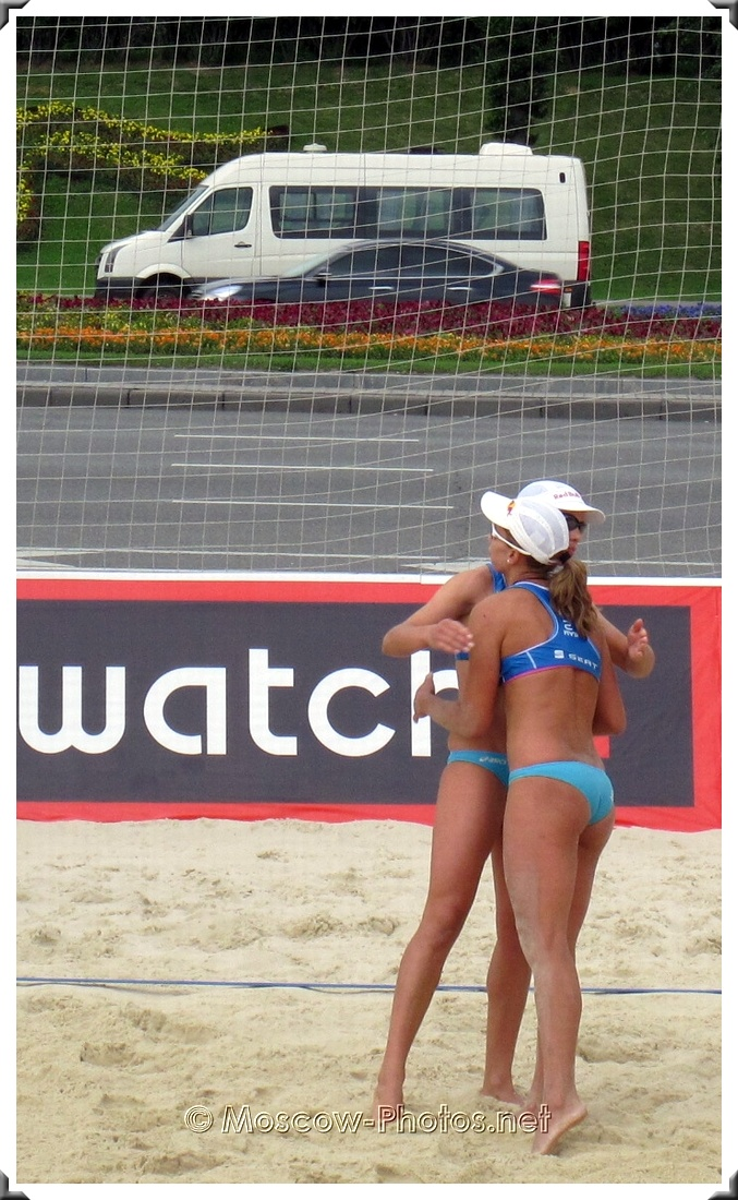 Beach Volleyball Players Vicky Arvaniti and Maria Tsiartsiani