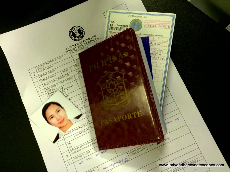 documents for Indian Visa on Arrival application