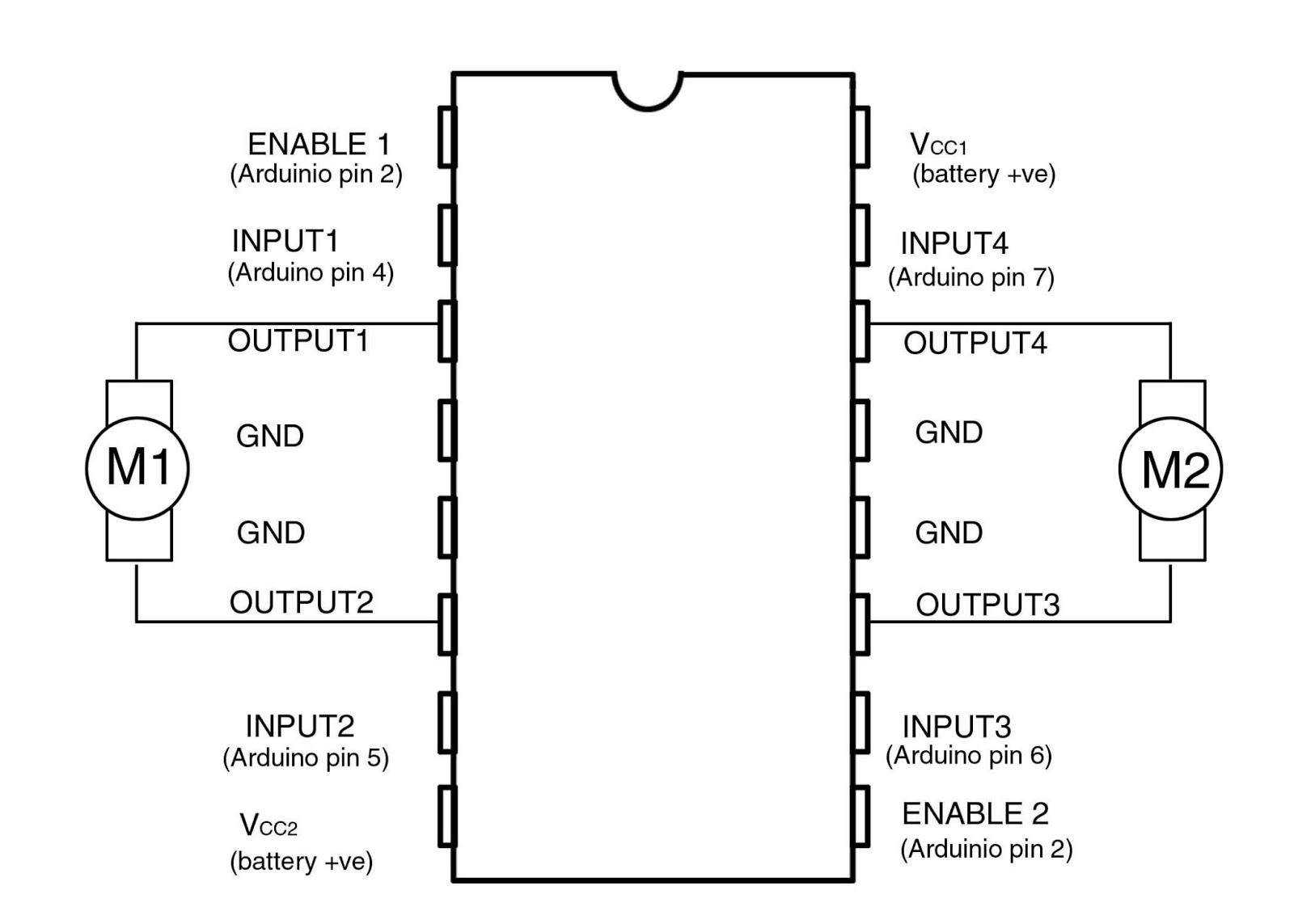 L293d Motor Driver Circuit Diagram 2004 Holden Rodeo Stereo Wiring L239d For Mac