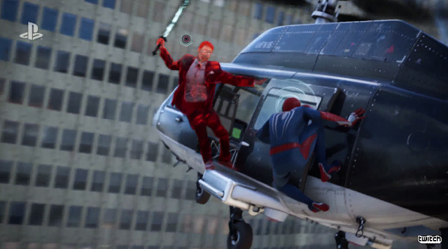 Spider-Man PS4 Martin Li helicopter siwpe attack