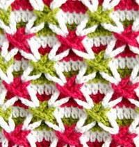 3 Colors crochet polish star stitch